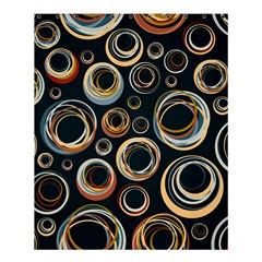Seamless Cubes Texture Circle Black Orange Red Color Rainbow Shower Curtain 60  x 72  (Medium)