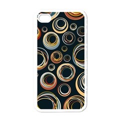 Seamless Cubes Texture Circle Black Orange Red Color Rainbow Apple iPhone 4 Case (White)