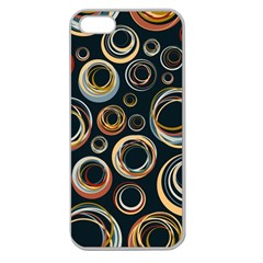 Seamless Cubes Texture Circle Black Orange Red Color Rainbow Apple Seamless iPhone 5 Case (Clear)