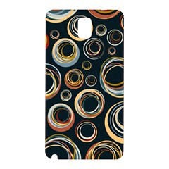 Seamless Cubes Texture Circle Black Orange Red Color Rainbow Samsung Galaxy Note 3 N9005 Hardshell Back Case