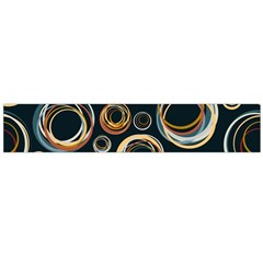 Seamless Cubes Texture Circle Black Orange Red Color Rainbow Flano Scarf (Large)