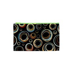 Seamless Cubes Texture Circle Black Orange Red Color Rainbow Cosmetic Bag (XS)