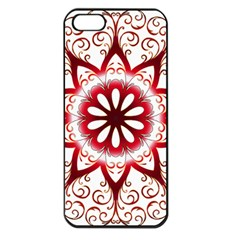 Prismatic Flower Floral Star Gold Red Orange Apple iPhone 5 Seamless Case (Black)