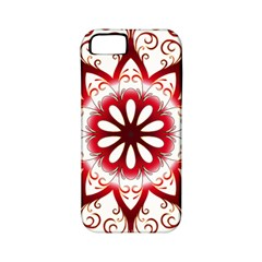 Prismatic Flower Floral Star Gold Red Orange Apple iPhone 5 Classic Hardshell Case (PC+Silicone)
