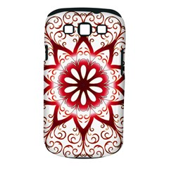 Prismatic Flower Floral Star Gold Red Orange Samsung Galaxy S III Classic Hardshell Case (PC+Silicone)