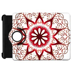 Prismatic Flower Floral Star Gold Red Orange Kindle Fire HD 7