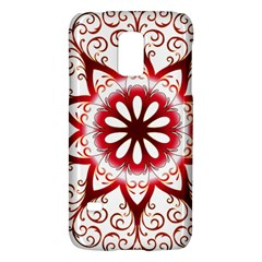 Prismatic Flower Floral Star Gold Red Orange Galaxy S5 Mini