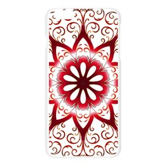 Prismatic Flower Floral Star Gold Red Orange Apple Seamless iPhone 6 Plus/6S Plus Case (Transparent)