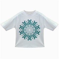 Vintage Floral Star Blue Green Infant/Toddler T-Shirts