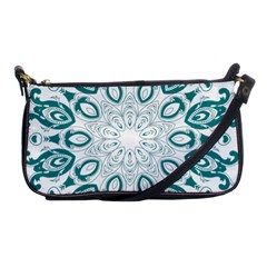Vintage Floral Star Blue Green Shoulder Clutch Bags