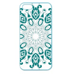 Vintage Floral Star Blue Green Apple Seamless iPhone 5 Case (Color)