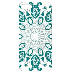 Vintage Floral Star Blue Green Apple iPhone 5 Hardshell Case with Stand