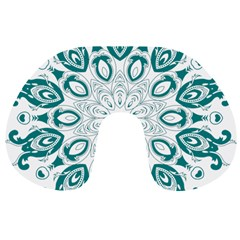 Vintage Floral Star Blue Green Travel Neck Pillows