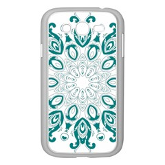 Vintage Floral Star Blue Green Samsung Galaxy Grand DUOS I9082 Case (White)