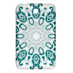 Vintage Floral Star Blue Green Samsung Galaxy Tab 3 (7 ) P3200 Hardshell Case