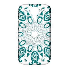 Vintage Floral Star Blue Green Samsung Galaxy S4 Classic Hardshell Case (PC+Silicone)