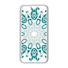 Vintage Floral Star Blue Green Apple iPhone 5C Seamless Case (White)