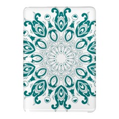 Vintage Floral Star Blue Green Samsung Galaxy Tab Pro 10.1 Hardshell Case
