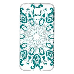 Vintage Floral Star Blue Green Samsung Galaxy S5 Back Case (White)