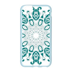 Vintage Floral Star Blue Green Apple Seamless iPhone 6/6S Case (Color)