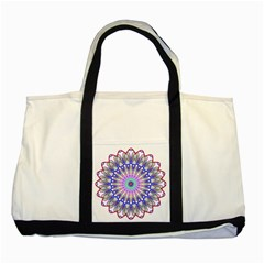 Prismatic Line Star Flower Rainbow Two Tone Tote Bag