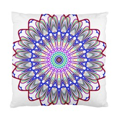 Prismatic Line Star Flower Rainbow Standard Cushion Case (Two Sides)