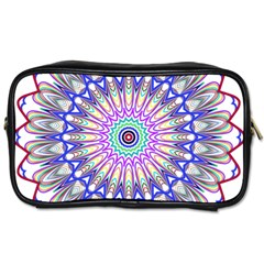 Prismatic Line Star Flower Rainbow Toiletries Bags