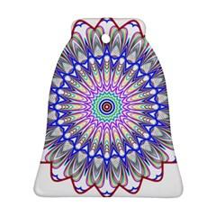 Prismatic Line Star Flower Rainbow Ornament (Bell)