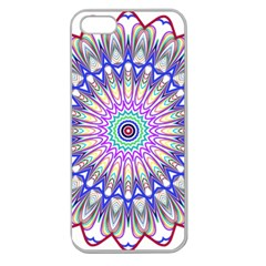 Prismatic Line Star Flower Rainbow Apple Seamless iPhone 5 Case (Clear)