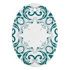Vintage Floral Style Frame Ornament (oval)