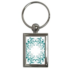 Vintage Floral Style Frame Key Chains (rectangle)