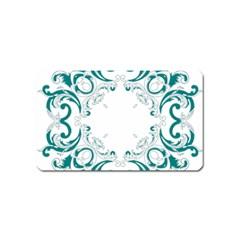 Vintage Floral Style Frame Magnet (Name Card)