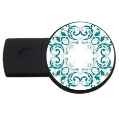 Vintage Floral Style Frame USB Flash Drive Round (1 GB)