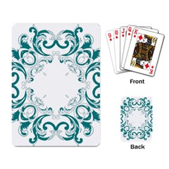 Vintage Floral Style Frame Playing Card