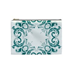 Vintage Floral Style Frame Cosmetic Bag (Medium)