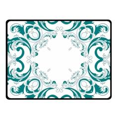 Vintage Floral Style Frame Fleece Blanket (Small)