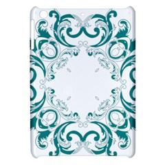 Vintage Floral Style Frame Apple iPad Mini Hardshell Case