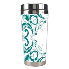 Vintage Floral Style Frame Stainless Steel Travel Tumblers