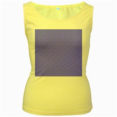 Ripples Blue Space Women s Yellow Tank Top
