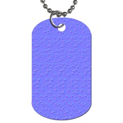 Ripples Blue Space Dog Tag (Two Sides)