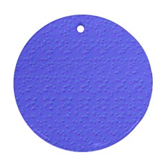 Ripples Blue Space Round Ornament (two Sides)