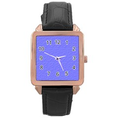 Ripples Blue Space Rose Gold Leather Watch
