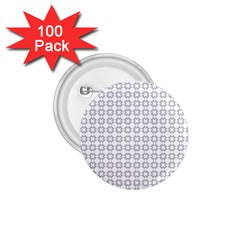 Violence Head On King Purple White Flower 1.75  Buttons (100 pack)