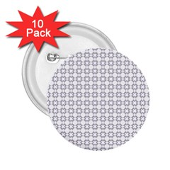Violence Head On King Purple White Flower 2.25  Buttons (10 pack)