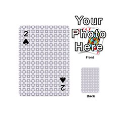 Violence Head On King Purple White Flower Playing Cards 54 (Mini)