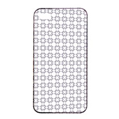 Violence Head On King Purple White Flower Apple iPhone 4/4s Seamless Case (Black)
