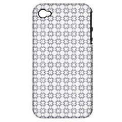 Violence Head On King Purple White Flower Apple iPhone 4/4S Hardshell Case (PC+Silicone)