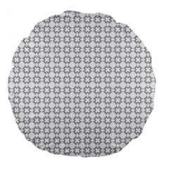 Violence Head On King Purple White Flower Large 18  Premium Round Cushions