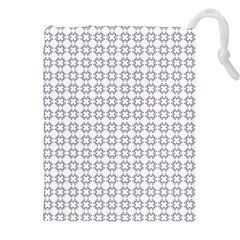 Violence Head On King Purple White Flower Drawstring Pouches (XXL)
