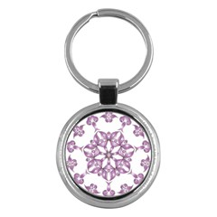 Frame Flower Star Purple Key Chains (Round)